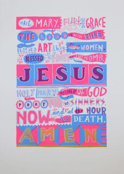 Amen Jess Wilson Print Club London Screen Print
