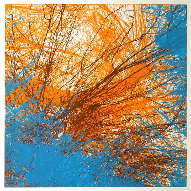 Chris-Keegan-Blue-and-Orange-Tree-screen-print-london