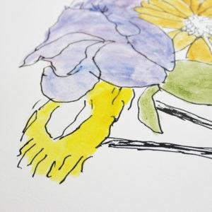 Bob Gill Flowers Print Club London