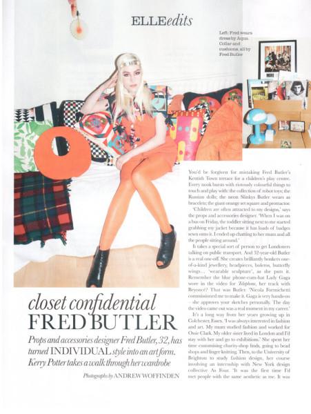 Fred Butler - Elle mag 2