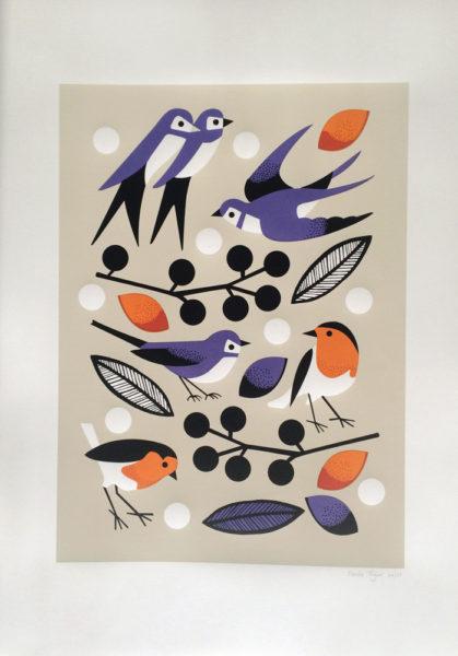 Garden Birds Nadia Taylor Print Club London Screen Print