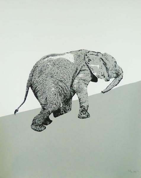 Claudia Borfiga-Uphill Elephant