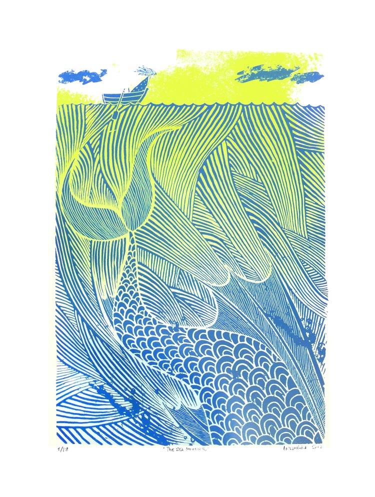 Tribambuka-THE-SEA-MONSTER-GREEN-BLUE