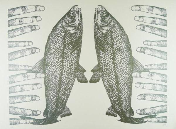 Claudia Borfiga-Fish Fingers Silver Blue
