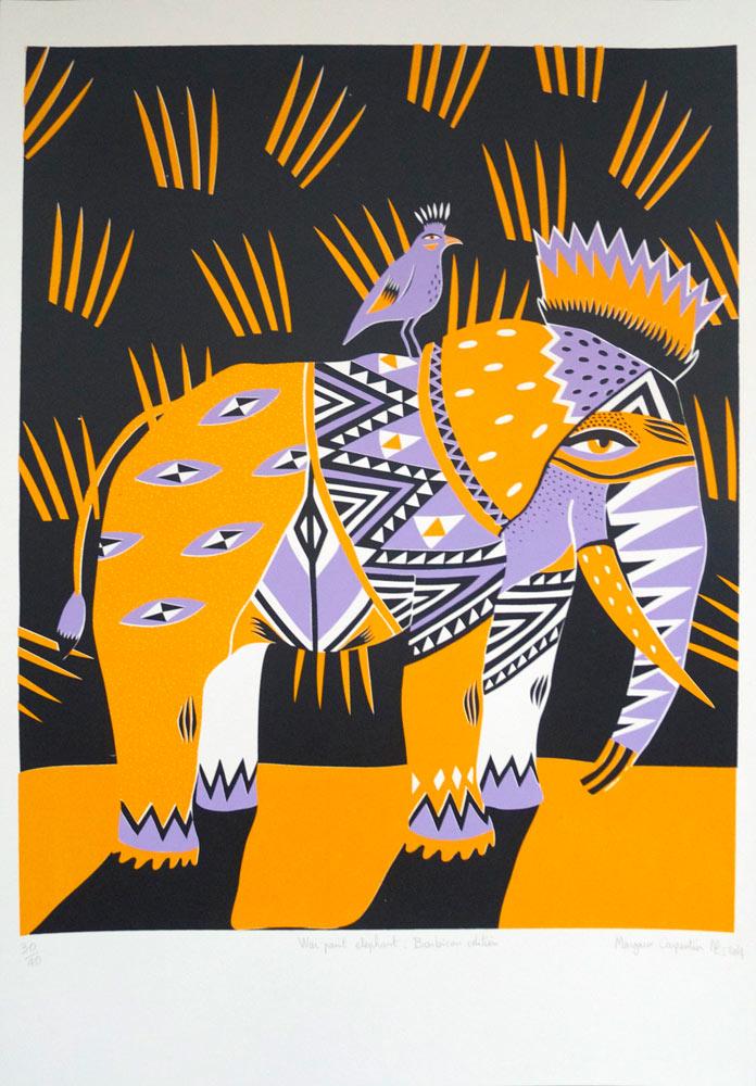 Margaux-Carpentier-War-Paint-screen-print-london