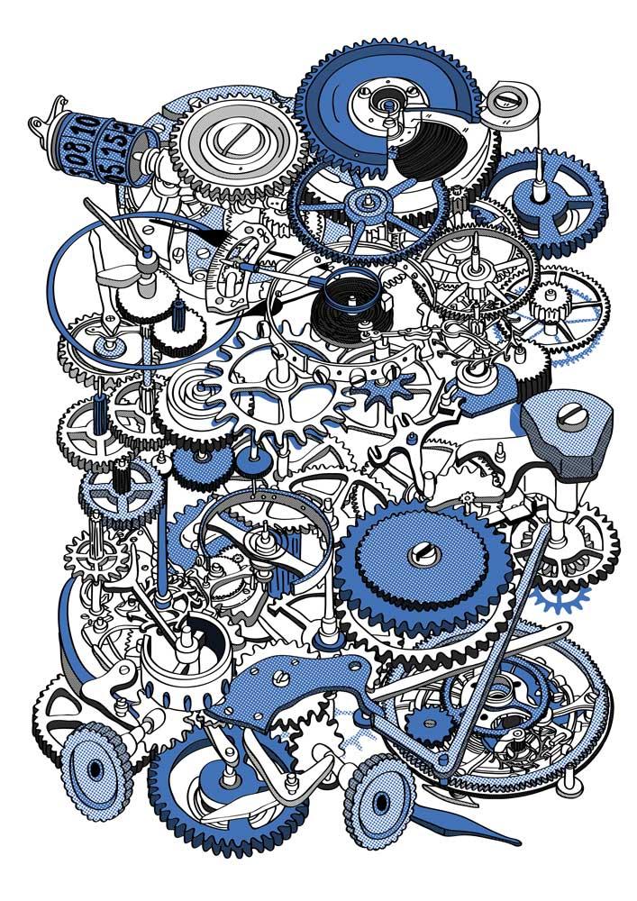 Hugo Yoshikawa – Watch Mechanism (blue)