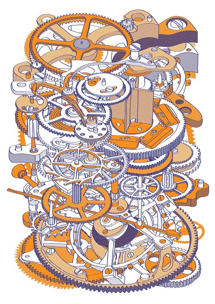 Hugo Yoshikawa – Watch Mechanism (orange)