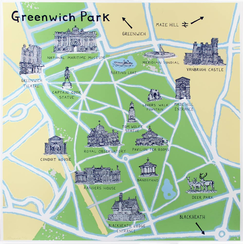 Greenwich Park Map Greenwich Park Map | Print Club London