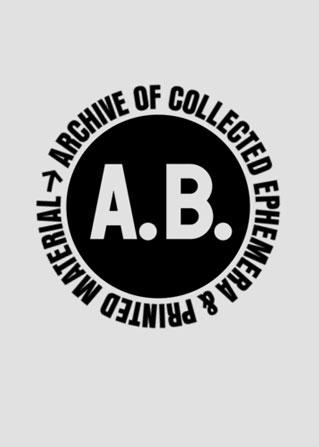 Anthony Burrill archive printed emphemera