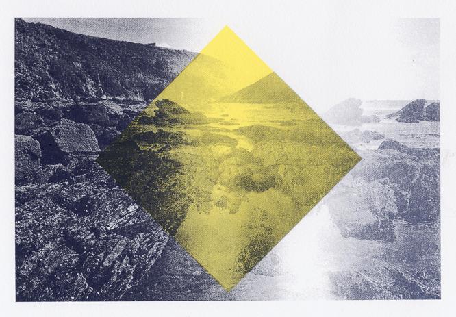 Print Club London Meggie Wood Yellow Diamond Screen Print