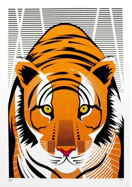 Arbitrary Matter Asian Tiger Print Club London Screen Print