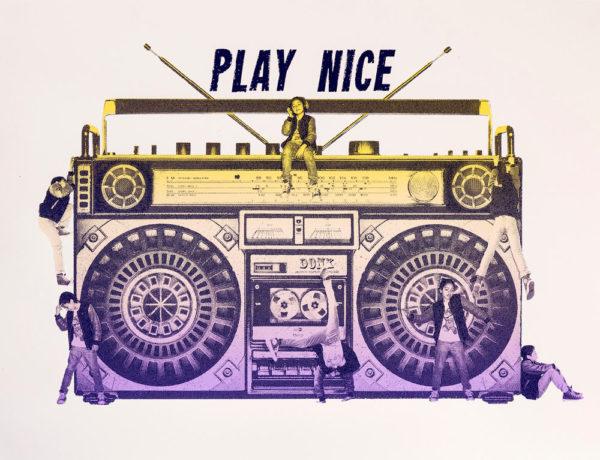 Donk Playnice Print Club London Screen Print