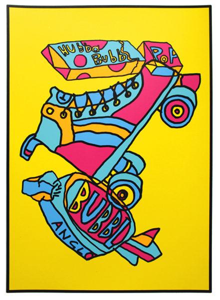 Oli Fowler Bub Skate Print Club London Screen Print