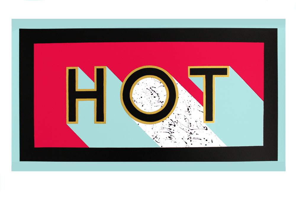 Archie Proudfoot Hot Print Club London Screen Print