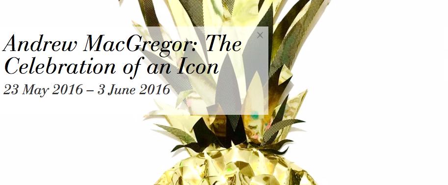 Andrew MacGregor Exhibition Pineapple Screen Print
