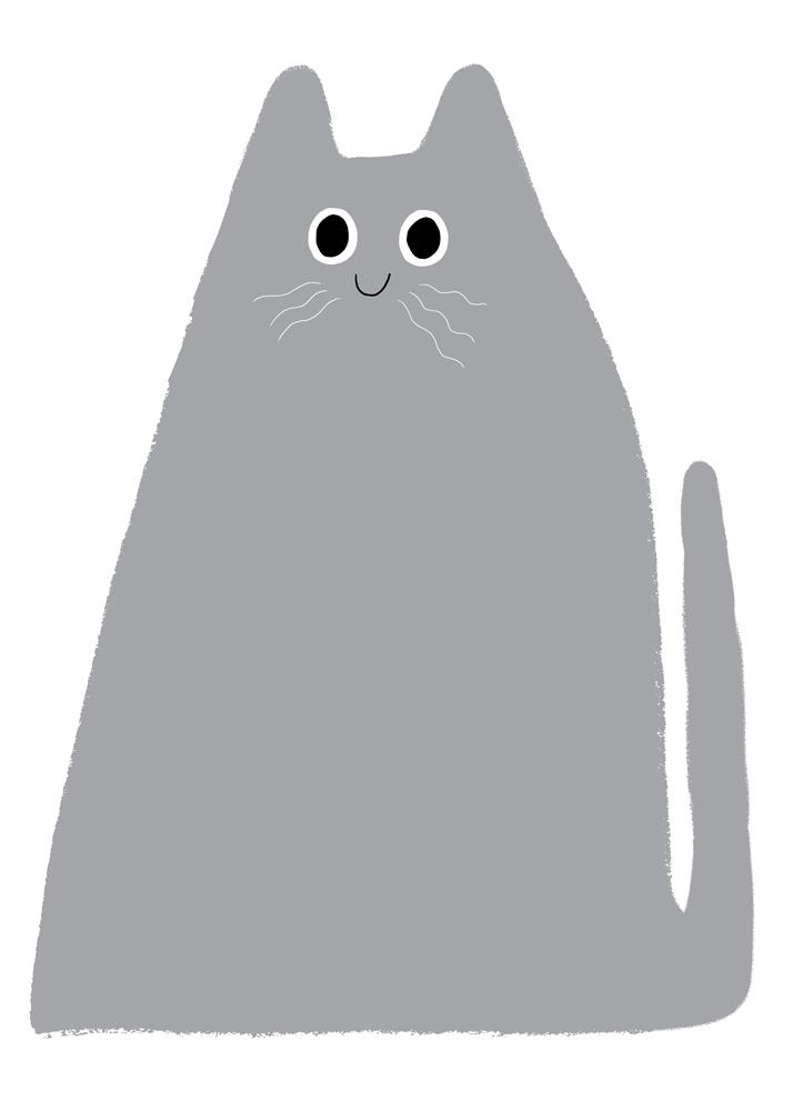 Elliot Kruszynski Big Grey Cat Print Club London Screen Print