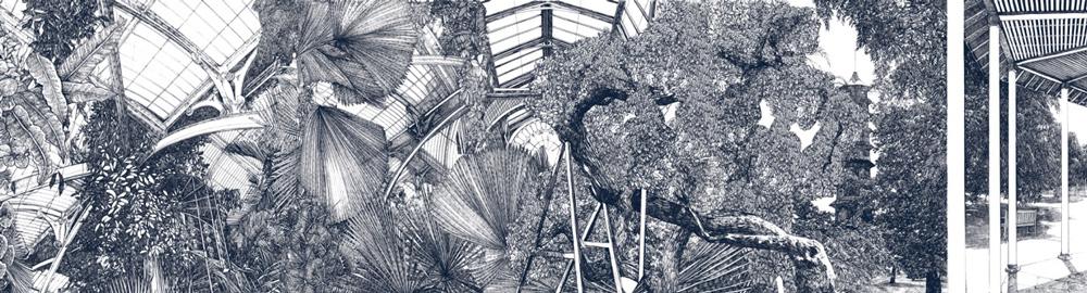 Lucille Clerc Panorama Kew Pagoda Print Club London Screen Print