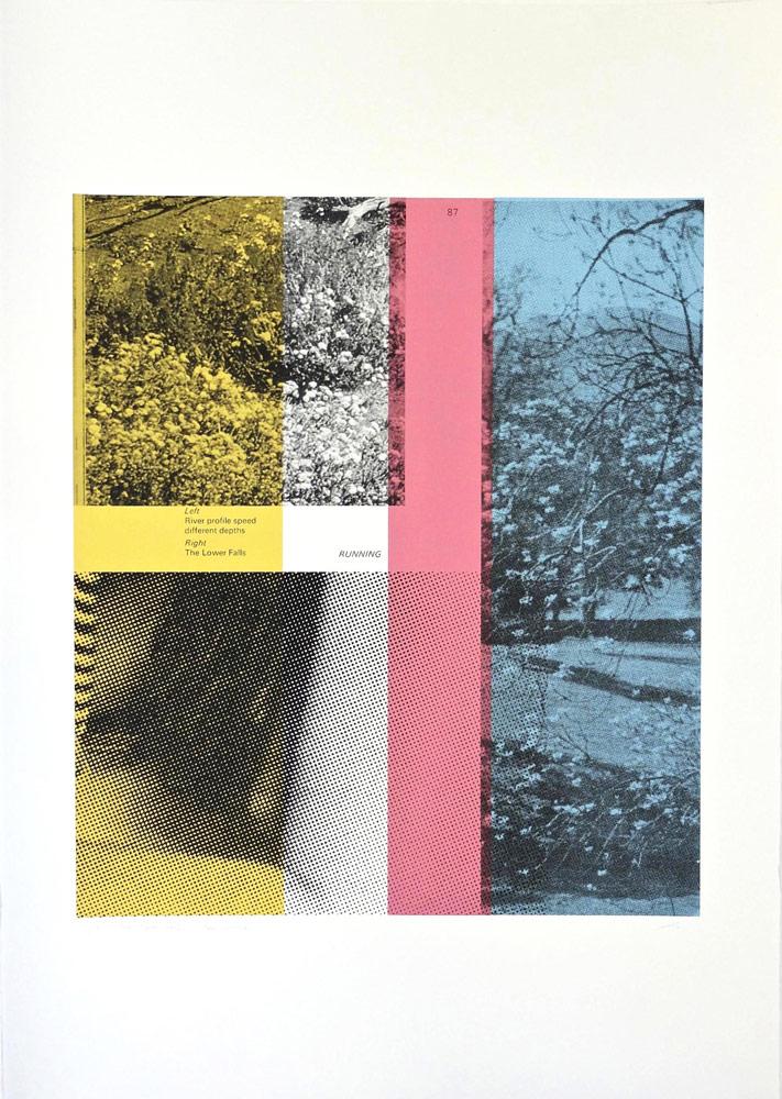Paul Wardski The Lower Falls Print Club London Screen Print