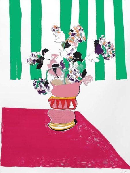 Rose Electra Harris Print Club London Vase In My Bedroom Illustration Screen Print