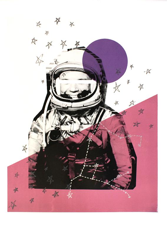 Alice Kiteley Star Man Print Club London Screen Print