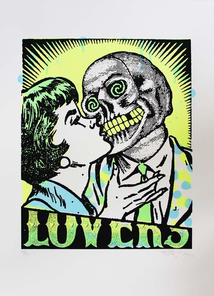 Lovers (Green) Ben Rider Print Club London