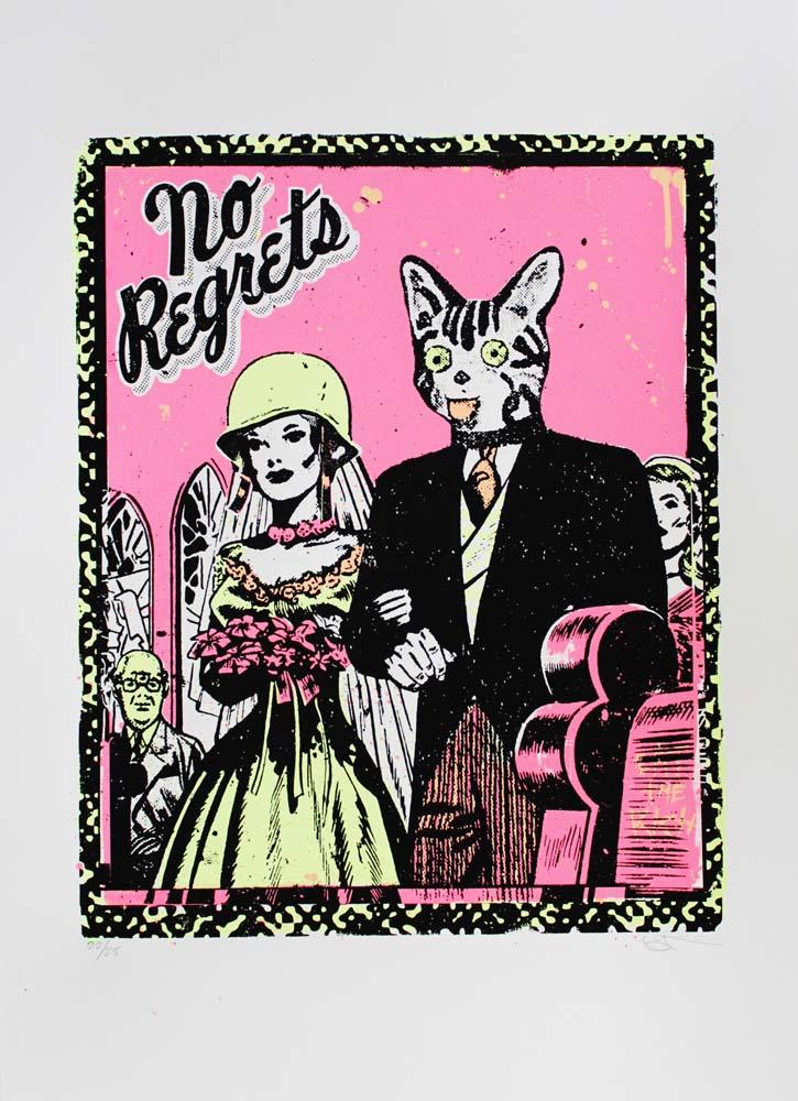 No Regrets Ben Rider Print Club London