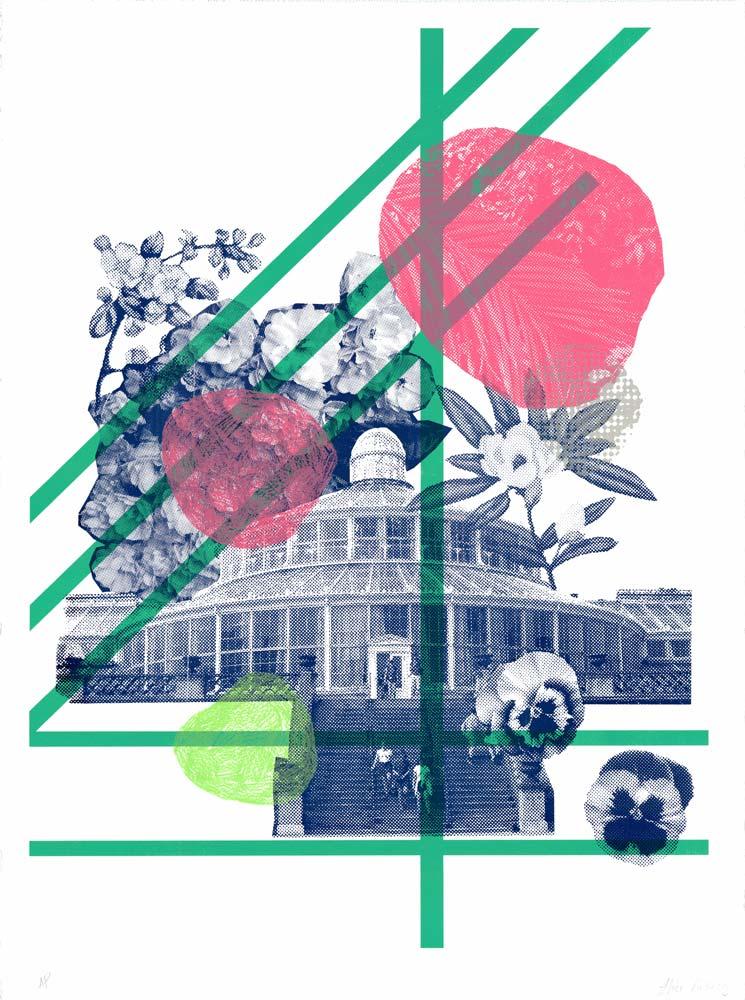 Botanical Garden Alice Kiteley Print Club London Screen Print