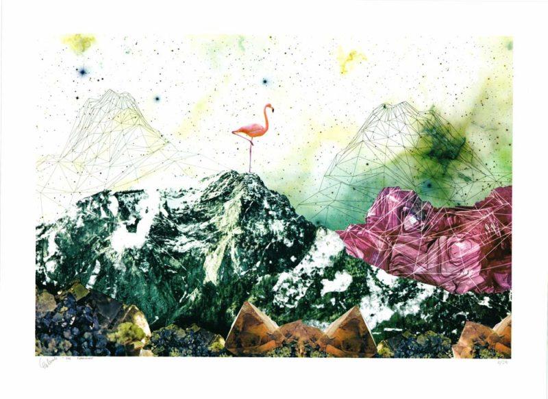 The Flamingo Fei Alexeli Print Club London Screen Print