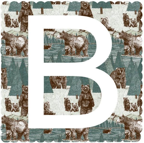 B Is For Bear Claire Halifax Print Club London