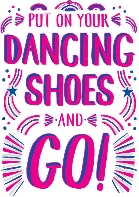 Dancing Shoes Francesca Tiley Print Club London Screen Print