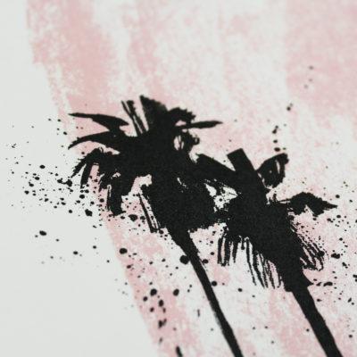Pink Palms Caroline Tomlinson Print Club London