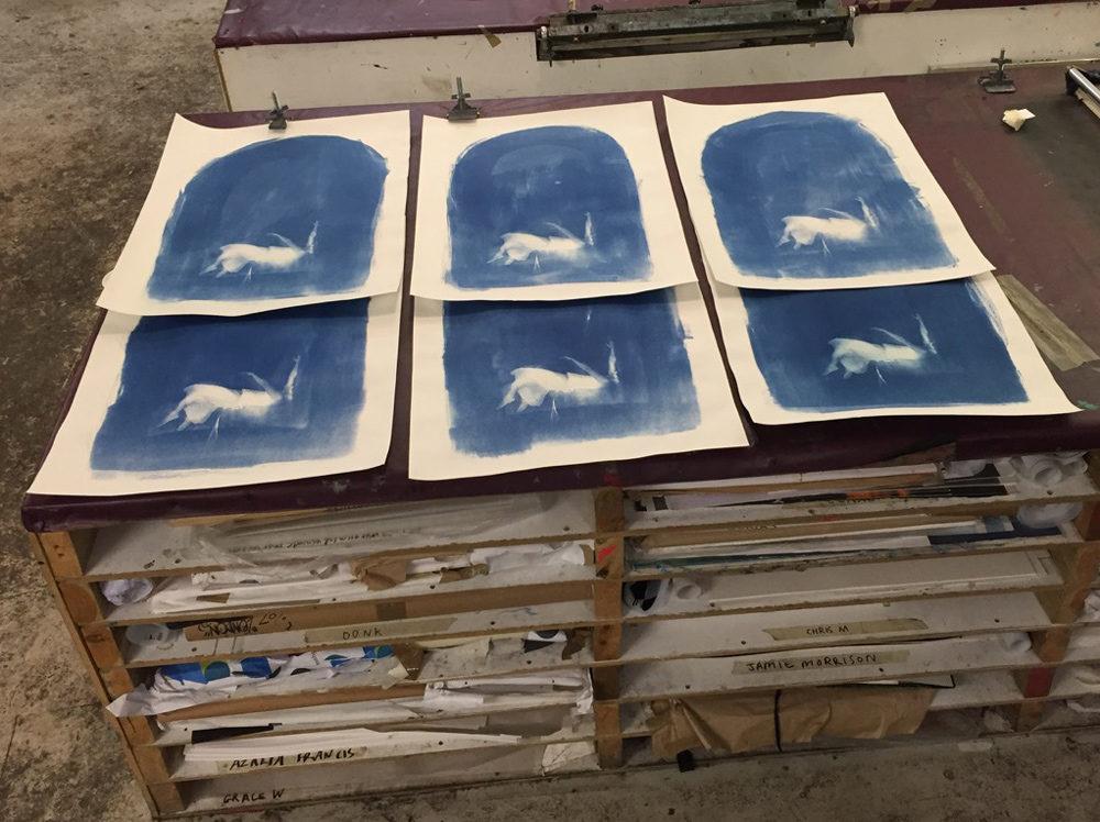 Craig Keenan Falling Print Club London