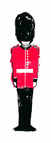 The Queens Guard Print Club London Gavin Dobson Screen Print