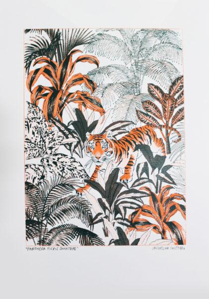 Sumatran Tiger Jacqueline Colley Print Club London