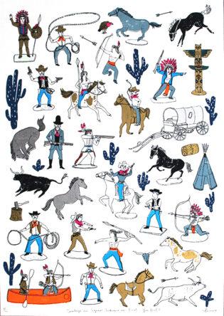 Charlotte Farmer Cowboys Are Square Print Club London
