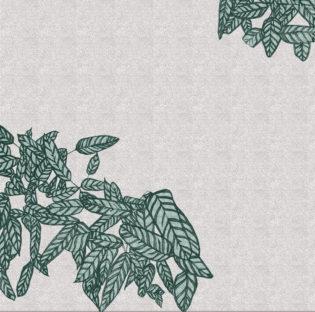 Flower Bed Stripes Clare Halifax Print Club London Screen Print
