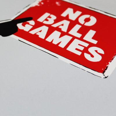 No Ball Games BB8 Thirsty Bstrd Print Club London