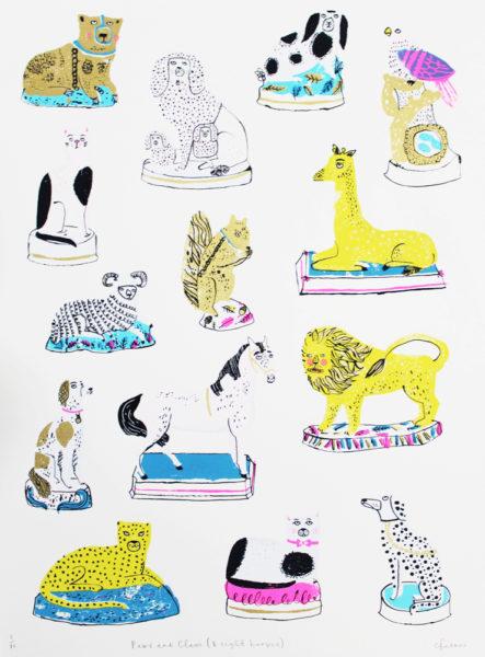 Charlotte Farmer Paws & Claws Print Club London