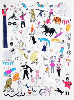 Charlotte Farmer Showtime Print Club London