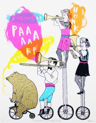 Charlotte Farmer Toot, Parp, Honk Print Club London