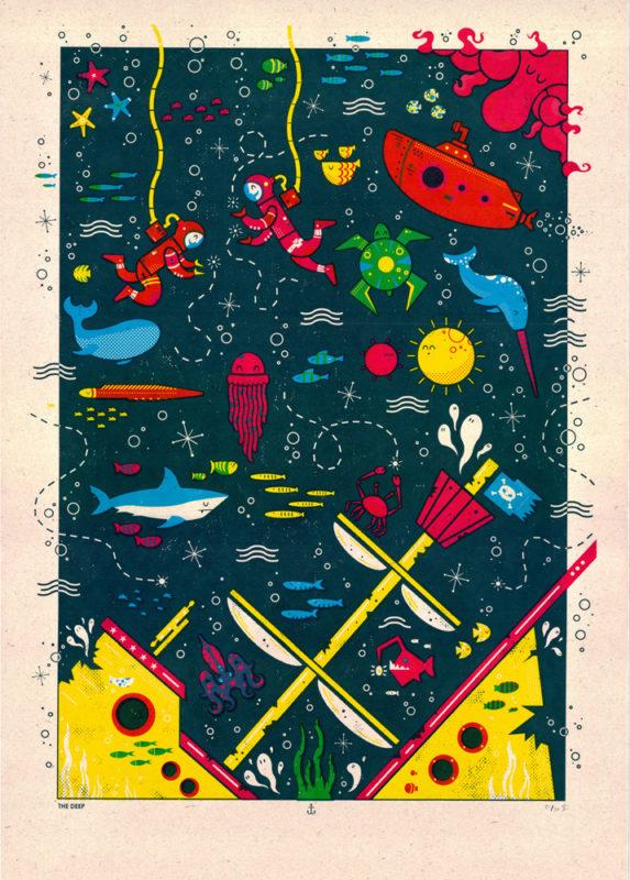 The Deep Josh Hurley Print Club London Screen Print
