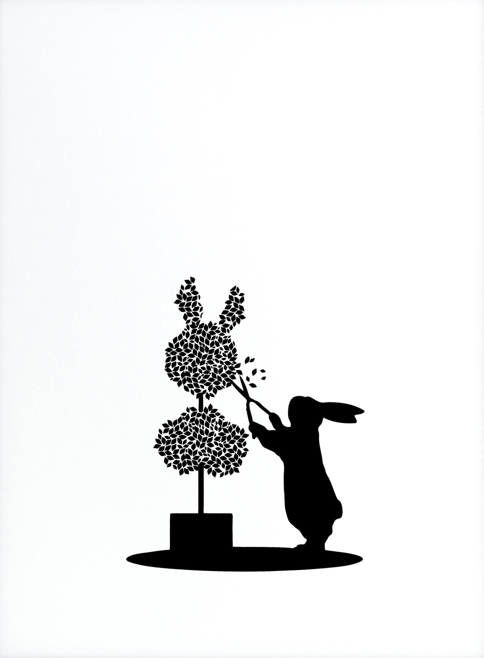 Topiary Rabbit by HAM || Print Club London