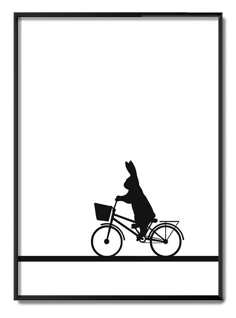 City Bike Rabbit Ham Print Club London Screen Print