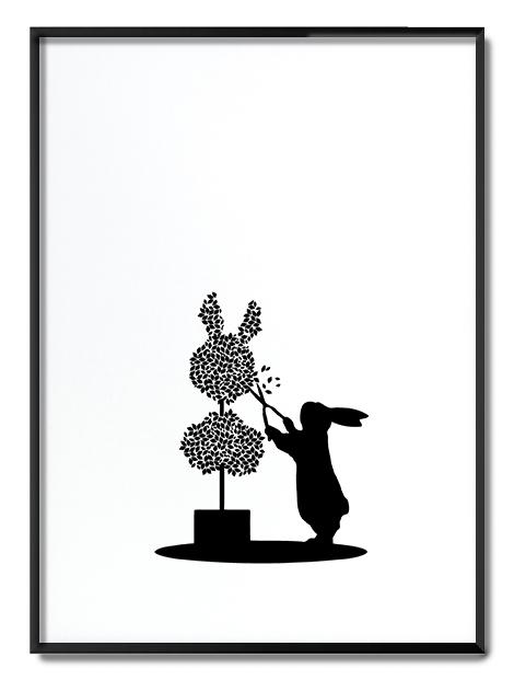 Topiary Rabbit Ham Print Club London Screen Print