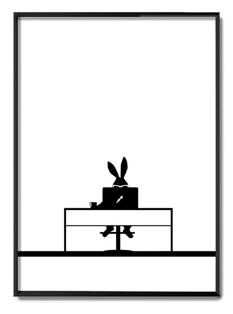 Working Rabbit Ham Print Club London Screen Print