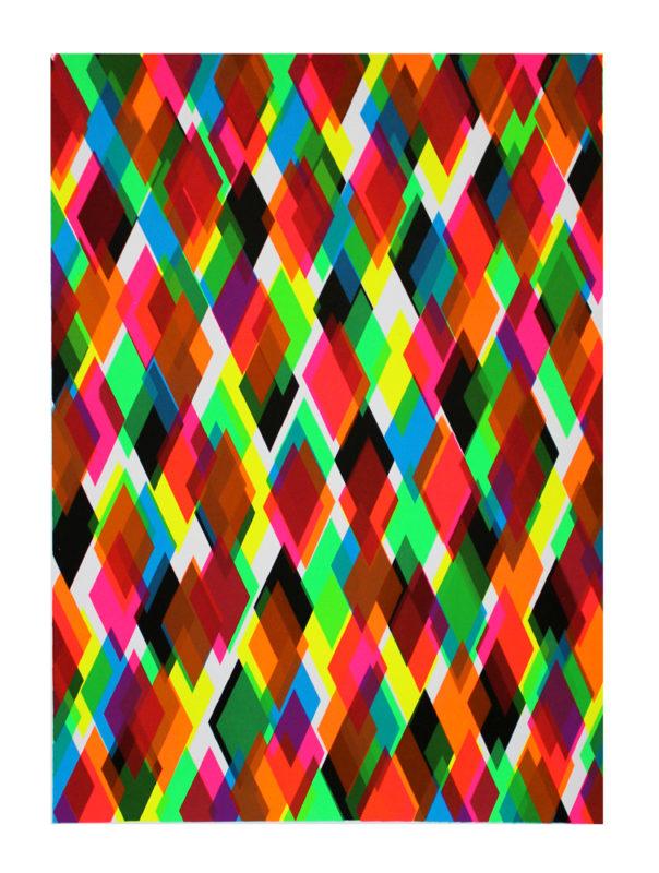 Neon diamond Gfeller Hellsgard Print Club London Screen Print