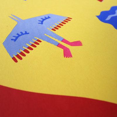 Swimmer Margaux Carpentier Print Club London Screen Print