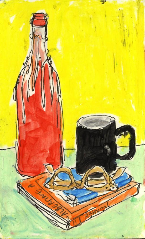Red Bottle Black Mug Isabella Cotier