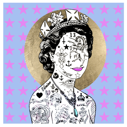 HRH Stars Rugman Print Club London Screen Print