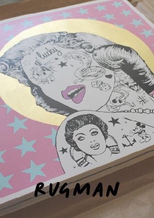 Monroe Stars Rugman Print Club London Screen Print